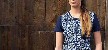 Tričko lastovička I - modrotlač
