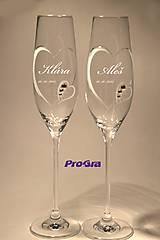 Nádoby - Clara - svadobné poháre - 2ks - 6476562_