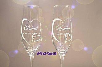 Nádoby - Clara - svadobné poháre - 2ks - 6476573_