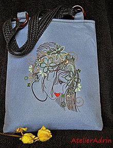 Kabelky - vyšívaná taška -múza - 6474468_