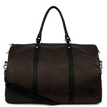 Veľké tašky - Kožená cestovná taška