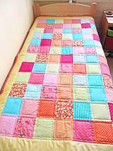 Úžitkový textil - Patchworková deka Alica - 6474359_