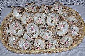 Dekorácie - Slepačie vintage kraslice - 6476810_