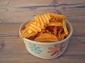 Nádoby - Miska chipsová Kvety 800 ml - 6483041_