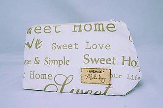 Taštičky - Kozmetická taštička Sweet Home - 6480445_