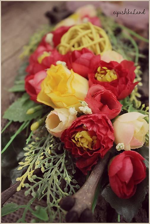 Kvetinky  na kôre   cipishkaLand - SAShE.sk - Handmade Dekorácie 6d3d7f43910