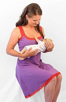 Tehotenské/Na dojčenie - KRÁTKÁ DOJČIACA nočná košeľa 3v1, s ČIPKOU - 76 farieb - veľ. XS/S - 6477933_