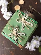 Pierka - Natur svadobné pierko štvorlístok  - 6480329_