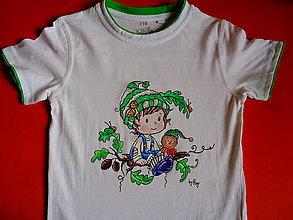 Detské oblečenie - maľované tričko - 6482027_