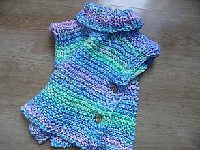 Detské oblečenie - vestička s roláčikom - 6482206_