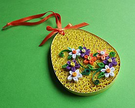 Dekorácie - Veľkonočné vajíčko - lemon - 6480050_