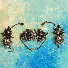 Náušnice - Náušnice so strapcami perál (Malé hnedo-zelené) - 6480440_