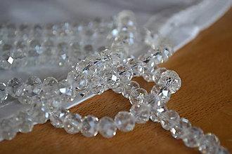 Korálky - Korálky sklenené brúsené transparent, 8mm, 0.09€/ks - 6478069_