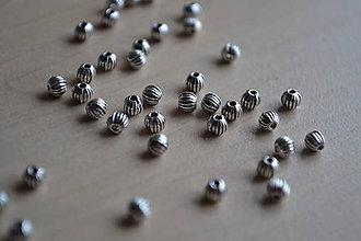 Korálky - Kovové korálky, 3.5mm, 0.40€/10ks - 6478147_