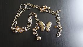 Náhrdelníky - akcia vintage náhrdelník s motýľom - 6479269_