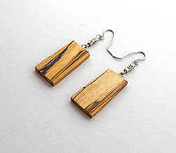 Náušnice - Špaltovaná breza - lichobežníčky - 6482490_