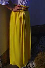 Sukne - žltá sukňa - 6481839_