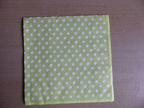 Papier - zelená s bodkami - 6479639_