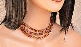- Variabilný náhrdelník makramé z hnedej ľanovej šnúrky, zľava 40% - 6479222_