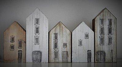 Dekorácie - Domčeky zo starej štvrte - 6479280_
