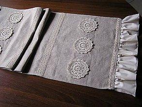 Úžitkový textil - *** Ľanová štôla II. - FANTAZIE