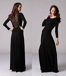 Šaty - Dlhé šaty s čipkou na chrbte - 6487893_