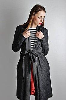 Kabáty - Tmavý plášť CLAUDINE - 6483550_