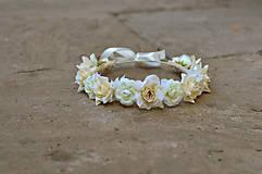 Ozdoby do vlasov - Neha bielych ruží - 6488065_