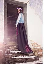 Sukne - Hnedo-ružová maľovaná sukňa - zľava - 6486951_