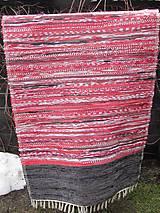 Úžitkový textil - KOBEREC tkaný cca80x 150 m červený - 6484958_