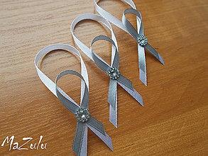 Darčeky pre svadobčanov - stuhy na svadobné fľaše - 6483334_