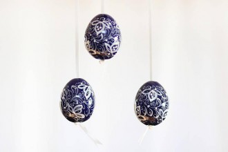 Dekorácie - Veľkonočné dekoračné vajíčka  - 6484577_