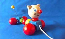 Hračky - Mačička na ťahanie - 6487455_