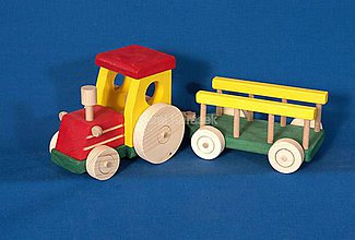Hračky - Drevený traktor - 6486993_