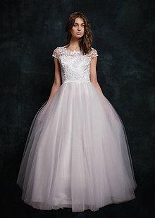 Šaty - Svadobné šaty s tylovou kruhovou sukňou - 6484998_