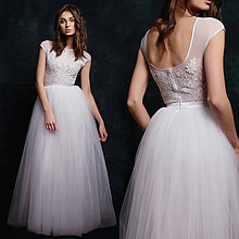 Šaty - Svadobné šaty s velkou tylovou sukňou - 6485916_