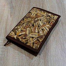 Úžitkový textil - Pre knihomoľov - korkové zátky L - 6487997_