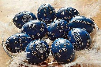 Dekorácie - Kraslice madeirové modré - 6487768_
