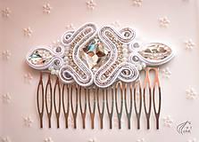 Ozdoby do vlasov - Svadobný hrebienok - strieborná a zlatá verzia - 6487126_