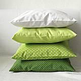 Úžitkový textil - Sada 4 obliečok Zelenám sa :o) - 6485791_