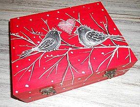 Krabičky - Keď sneží láska - 6483594_