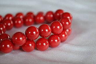 Minerály - Červený koral 10mm, 0.79€/ks - 6483945_