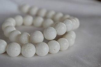 Minerály - Biely koral hubový 10mm, 0.33€/ks - 6484143_