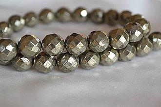 Minerály - Pyrit fazetovaný, 10mm, 0.60€/ks - 6486249_