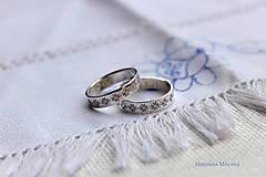 Prstene - Strieborné obrúčky pokovené - Žilina - 6484767_
