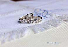 Prstene - Strieborné obrúčky pokovené - Žilina - 6484768_