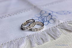 Prstene - Strieborné obrúčky pokovené - Žilina - 6484769_