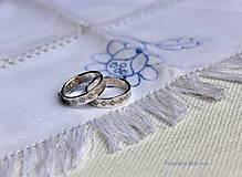 Prstene - Strieborné obrúčky pokovené - Žilina - 6484770_
