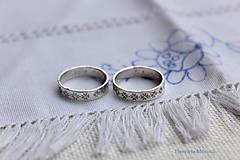 Prstene - Strieborné obrúčky pokovené - Žilina - 6484772_