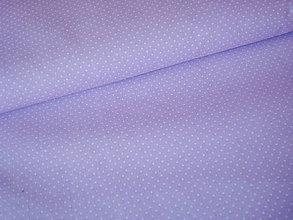 Textil - Látka bledo fialková bodka 1 mm - 6489175_
